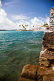 BERMUDA. St. George. Scenic view of the water and buildings in St. George.