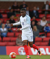 Ademola Lookman (Charlton Athletic) of England during the International match between England U20 and Brazil U20 at the Aggborough Stadium, Kidderminster, England on 4 September 2016. Photo by Andy Rowland / PRiME Media Images.