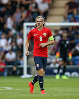 Iver Fossum (Hannover 96) of Norway during the International EURO U21 QUALIFYING - GROUP 9 match between England U21 and Norway U21 at the Weston Homes Community Stadium, Colchester, England on 6 September 2016. Photo by Andy Rowland / PRiME Media Images.