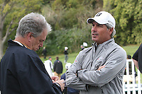 02/15/12 Pacific Palisades, CA:  Fred Couples before pro-am round of the Northern Trust Open held at the Riviera Country Club