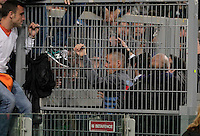 Napoli's midfielder Marek Hamsik speaks with supporters prior to the Italy Cup final soccer match between ACF Fiorentina and SSC Napoli at the Olimpico stadium in Rome, Italy, 03 May 2014 Gennaro de Tommaso, the leader of SSC Napoli 'Curva A' supporters nicknamed Genny a carogna
