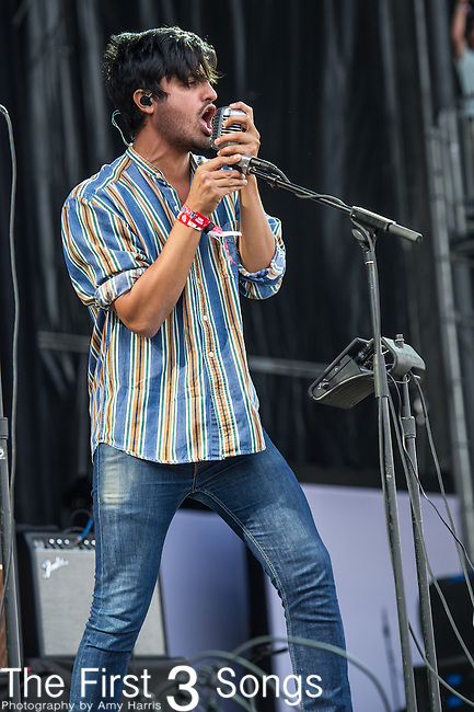 Sameer Gadhia of Young the Giant performs at the Outside Lands Music & Art Festival at Golden Gate Park in San Francisco, California.