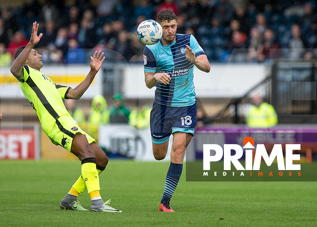 Dan Rowe of Wycombe Wanderers during the Sky Bet League 2 match between Wycombe Wanderers and Exeter City at Adams Park, High Wycombe, England on the 1st October 2016. Photo by Liam McAvoy.