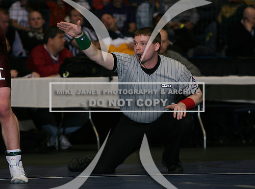 Certified official during the NY State Wrestling Championship Finals at Blue Cross Arena on March 9, 2008 in Rochester, New York.  (Copyright Mike Janes Photography)