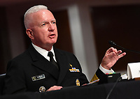 Admiral Brett Giroir, United States Assistant Secretary for Health, testifies before the US Senate Health, Education, Labor and Pensions (HELP) Committee, during a hearing on Capitol Hill in Washington DC on Tuesday, June 30, 2020. Government health officials updated the Senate on how to safely get back to school and the workplace during the COVID-19 pandemic. Photo by Kevin Dietsch/UPI<br /> Credit: Kevin Dietsch / Pool via CNP /MediaPunch