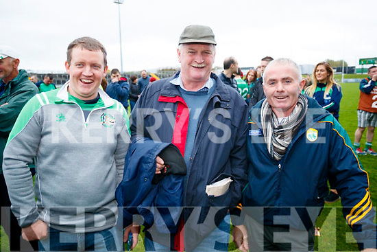 James O'Callaghan, Richard O'Callaghan and John O'Connor Ballyduff after the Senior County Hurling Final in Austin Stack Park on Sunday