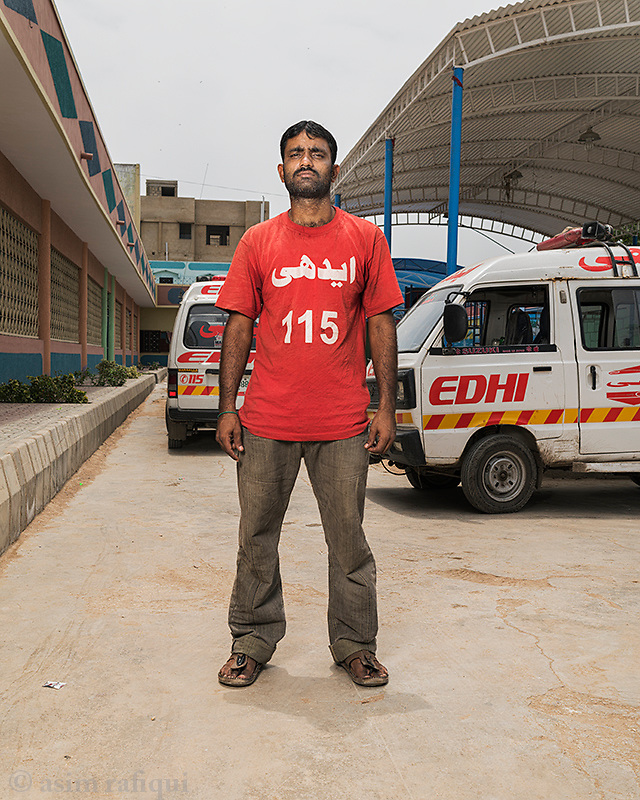 Mohammad Junaid, Edhi Emergency Services Ambulance Driver