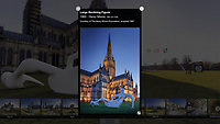 BNPS.co.uk (01202 558833)<br /> Pic: PatrickPrice/HATC/BNPS<br /> <br /> Stills form the virtual tour, 'Large Reclining Figure' by Henry Moore <br /> <br /> Salisbury Cathedral is launching a virtual version of its art exhibition to celebrate the iconic building's 800th anniversary after the Covid-19 crisis put the launch on hold.<br /> <br /> Curator Jacquiline Creswell, who spent three years planning the exhibition, finished installation just as lockdown struck.<br /> <br /> 'Celebrating 800 years of Spirit and Endeavour' brings together work by some of the most important and influential contemporary artists of the 20th and 21st century, including Antony Gormley, Henry Moore, Grayson Perry and Mark Wallinger.<br /> <br /> The cathedral also commissioned two new artworks for the anniversary - Time and Place by Bruce Munro and Somewhere in the Universe by Daniel Chadwick. <br /> <br /> Patrick Price from Heads Above The Cloud was called in to scan the entire exhibition inside and out before the cathedral closed, and curator Jacquiline Creswell has spent the last few weeks working with the cathedral team to create a virtual tour.