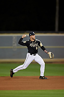 UCF Knights second baseman Tom Josten (6) during a game against the Siena Saints on February 14, 2020 at John Euliano Park in Orlando, Florida.  UCF defeated Siena 2-1.  (Mike Janes/Four Seam Images)