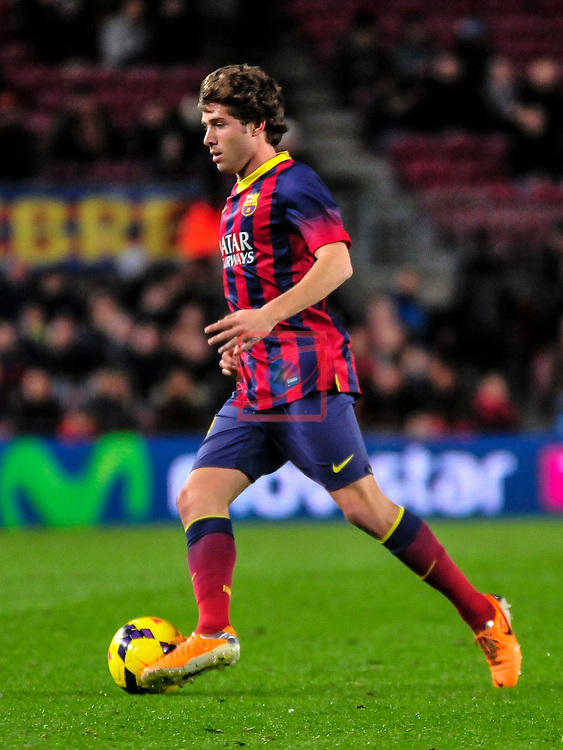 League BBVA 2013/2014 - Game: 21.<br /> FC Barcelona vs Malaga CF: 3-0.<br /> Sergi Roberto.