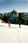 California: Yosemite, Cross Country Ski, skiers, model released, photo: skicrc102 .Photo copyright Lee Foster, www.fostertravel.com, 510/549-2202, lee@fostertravel.com