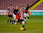 Jordan Hallam of Sheffield Utd scores his goal from the penalty spot during the U18 Professional Development League 2 play off semi final match at  Bramall Lane, Sheffield. Picture date: April 21st 2017. Pic credit should read: Simon Bellis/Sportimage