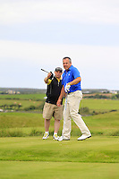 It's over there Pat !!!<br /> Pat Murray (Limerick) on the 14th tee during Round 3 of The South of Ireland in Lahinch Golf Club on Monday 28th July 2014.<br /> Picture:  Thos Caffrey / www.golffile.ie