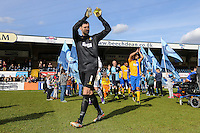 Scott Shearer of Mansfield Town ahead of the Sky Bet League 2 match between Wycombe Wanderers and Mansfield Town at Adams Park, High Wycombe, England on 25 March 2016. Photo by David Horn.