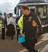 8th September 2017, Pride Park Stadium, Derby, England; EFL Championship football, Derby County versus Hull City; Hull City Head Coach Leonid Slutcky arriving at Pride Park Stadium before the match