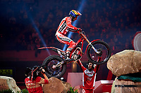 2nd February 2020; Palau Sant Jordi, Barcelona, Catalonia, Spain; X Trial Mountain Biking Championships; Jorge Casales (Spain) of the Gas Gas Team in action during the X Trial indoor Barcelona