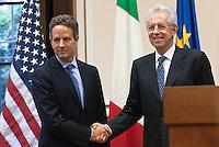 Mario Monti incontra Timothy Geithner