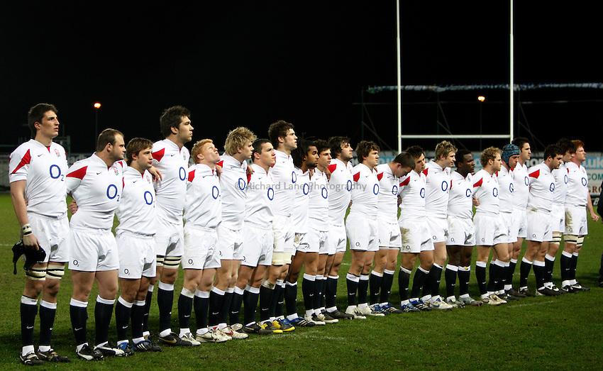 Photo: Richard Lane/Richard Lane Photography. .Scotland U20 v England U20. RBS U20 Six Nations. 07/03/2008. England U20 team.