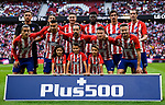 Players of Atletico de Madrid line up and pose for a photo prior to the La Liga 2017-18 match between Atletico de Madrid and Villarreal CF at Wanda Metropolitano  on October 28 2017 in Madrid, Spain. Photo by Diego Gonzalez / Power Sport Images