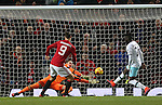 Zlatan Ibrahimovic of Manchester United scores the fourth goal during the English League Cup Quarter Final match at Old Trafford  Stadium, Manchester. Picture date: November 30th, 2016. Pic Simon Bellis/Sportimage