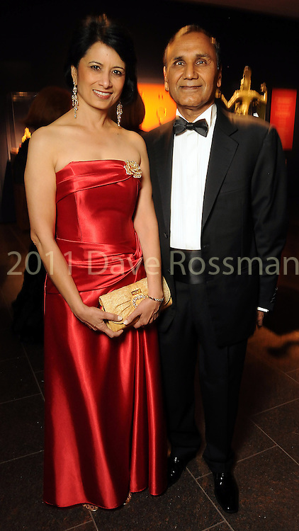 Dr. Renu Khator and her husband Suresh Khator at the Museum of Fine Arts Houston 's 2010 Grand Gala Ball  Friday Oct. 01, 2010. (Dave Rossman/For the Chronicle)