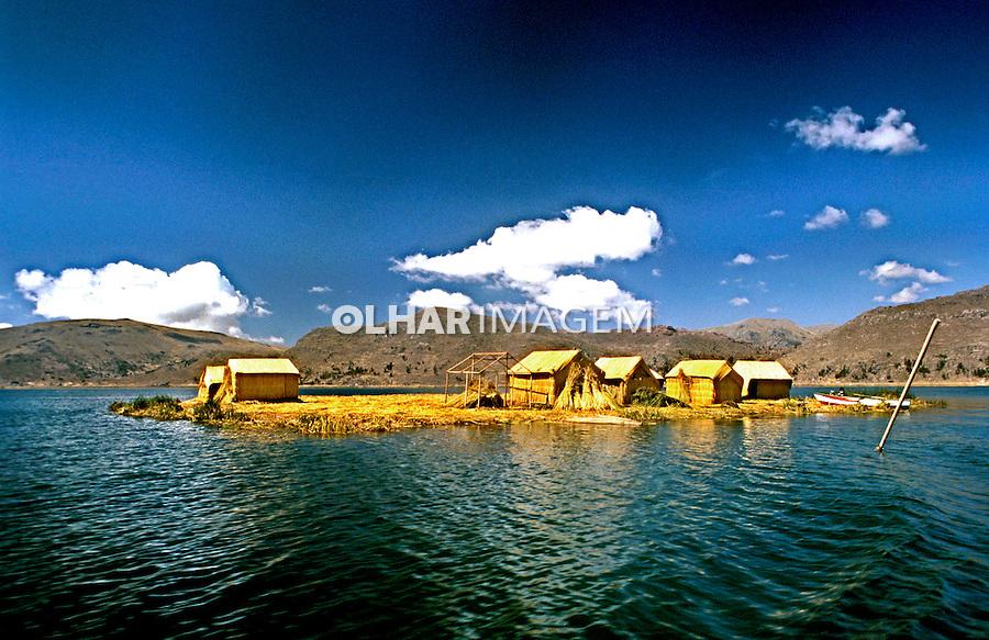 Ilha de Uros no Lago Titicaca. Bolivia. 2000. Foto de Renata Mello