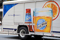 A Blue Moon delivery truck is seen in the New York City borough of Manhattan, NY, Tuesday August 2, 2011. Blue Moon is a Belgian-style witbier brewed by Coors Brewing Company in Golden, Colorado.
