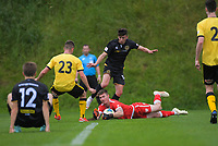Action from the ISPS Handa Premiership football match between Team Wellington and Wellington Phoenix Reserves at David Farrington Park in Wellington, New Zealand on Sunday, 17 November 2019. Photo: Dave Lintott / lintottphoto.co.nz