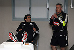 All Black Conrad Smith and team physiotherapist Peter Gallagher following the first international rugby test at Eden Park, Auckland, New Zealand, Saturday, June 02, 2007. The All Blacks beat France 42-11.