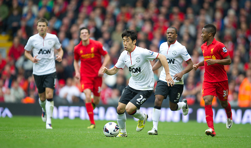 Manchester United's Shinji Kagawa ..Football - Barclays Premiership - Liverpool v Manchester United - Sunday 23rd September 2012 - Anfield - Liverpool..