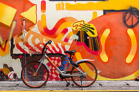 Bicycle and Wall Art, Baghdad Street, Singapore Kampong Glam.