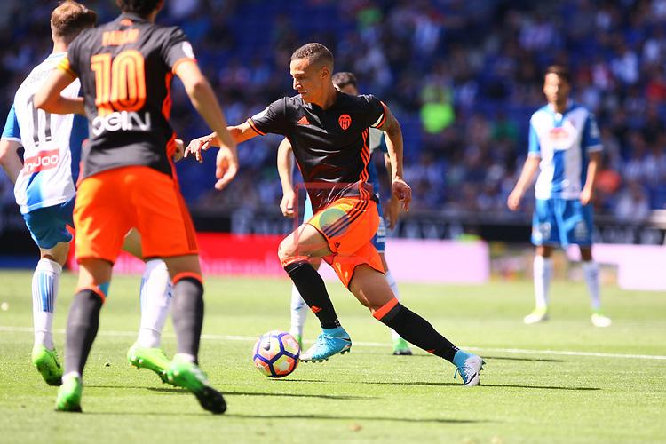 League Santander 2016/2017. Game: 37.<br /> RCD Espanyol vs Valencia CF: 0-1.<br /> Rodrigo Moreno.