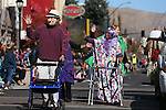 The Home Instead Senior Care entry participates in the annual Nevada Day parade in Carson City, Nev. on Saturday, Oct. 29, 2016. <br />