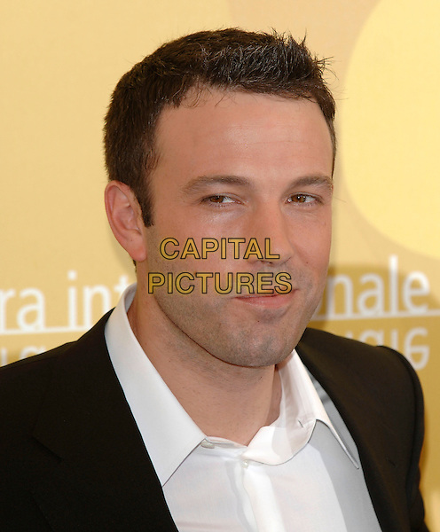 "BEN AFFLECK.""Hollywoodland"" photocall on the second day of the 63rd Venice International Film Festival, Venice, Italy..31st August 2006.Ref: PL.headshot portrait .www.capitalpictures.com.sales@capitalpictures.com.©Phil Loftus/Capital Pictures"