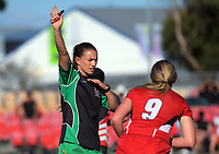 Referee Selica Winiata. Howick College v Manukura girls pool match. 2019 Sir Gordon Tietjens Sevens college rugby tournament at CET Arena in Palmerston North, New Zealand on Saturday, 2 March 2019. Photo: Dave Lintott / lintottphoto.co.nz