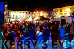 Turning on the Christmas lights at Listowel on Saturday evening.