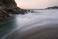Dusk at Smoothwater Bay near Jackson Bay, South Westland, West Coast, World Heritage Area, South Island, New Zealand