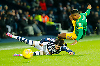 25th February 2020; The Hawthorns, West Bromwich, West Midlands, England; English Championship Football, West Bromwich Albion versus Preston North End; Darnell Fisher of Preston North End is fouled by Filip Krovinovic of West Bromwich Albion