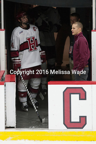 third star - Alexander Kerfoot (Harvard - 14) - The Harvard University Crimson defeated the visiting Boston College Eagles 5-2 on Friday, November 18, 2016, at the Bright-Landry Hockey Center in Boston, Massachusetts.