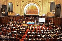 RIO DE JANEIRO-15/06/2012-Abertura da I Cupula Mundial de Legisladores,evento paralelo a Rio20 que acontece ate o dia 17 de junho na Assembleia Legislativa do Rio de Janeiro (Alerj). O encontro reunira cerca de 300 parlamentares de 130 paises, entre presidentes de parlamentos, congressos e senados. O objetivo é discutir temas como a elaboracao de leis para garantir o cumprimento dos compromissos elencados pelos chefes de Estado durante a Rio+20 e o controle e acompanhamento da execucao destes compromissos,na ALERJ,centro do Rio.Foto:Marcelo Fonseca-Brazil Photo Press