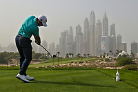 Adrian Otaegui (ESP) on the 8th tee during Round 1 of the Omega Dubai Desert Classic, Emirates Golf Club, Dubai,  United Arab Emirates. 24/01/2019<br /> Picture: Golffile | Thos Caffrey<br /> <br /> <br /> All photo usage must carry mandatory copyright credit (&copy; Golffile | Thos Caffrey)