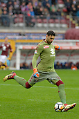 18th March 2018, Stadio Olimpico di Torino, Turin, Italy; Serie A football, Torino versus Fiorentina; Goalkeeper Salvatore Sirigu (Tor) clears the ball upfield