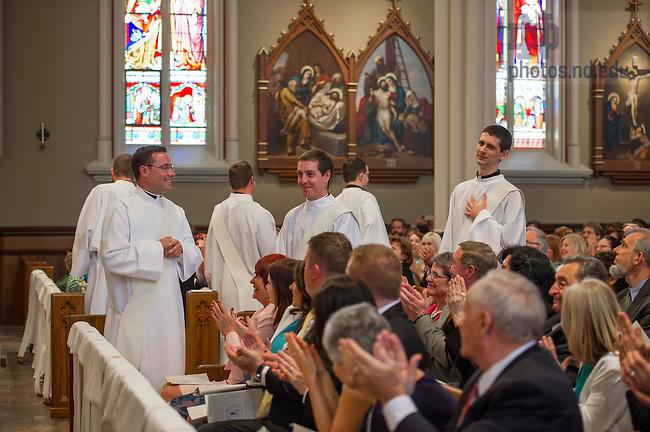 Apr. 11, 2015; 2015 Ordination (Photo by Barbara Johnston/University of Notre Dame)