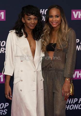 New York, NY July 11: Elisa Johnson, Samaria Leah Smith attends the VH1 Hip Hop Honors: All Hail The Queens at David Geffen Hall on July 11, 2016 in New York City.@John Palmer / Media Punch