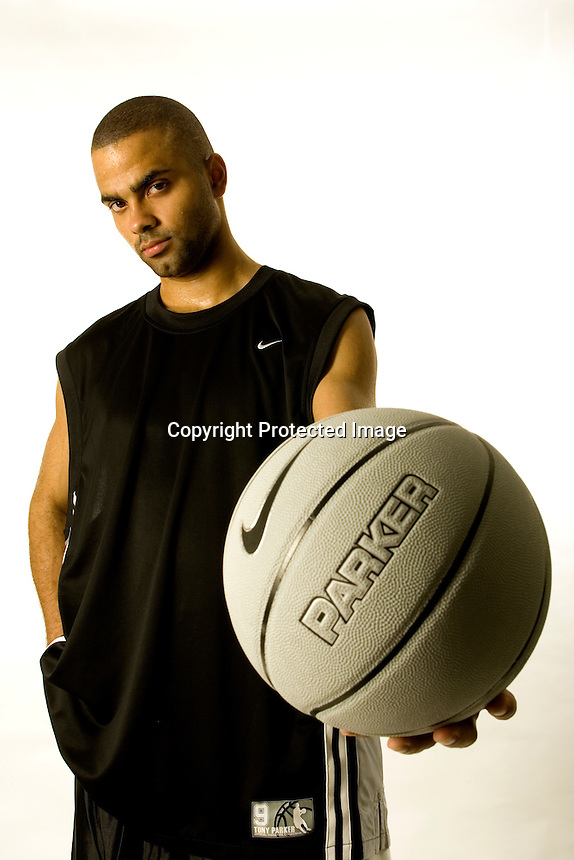 Tony Parker, San Antonio Spurs, for Nike-France..Photo by Chris Covatta