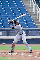 AZL Padres 2 catcher Luis Campusano (25) at bat against the AZL Brewers on September 2, 2017 at Maryvale Baseball Park in Phoenix, Arizona. AZL Brewers defeated the AZL Padres 2 2-0. (Zachary Lucy/Four Seam Images)