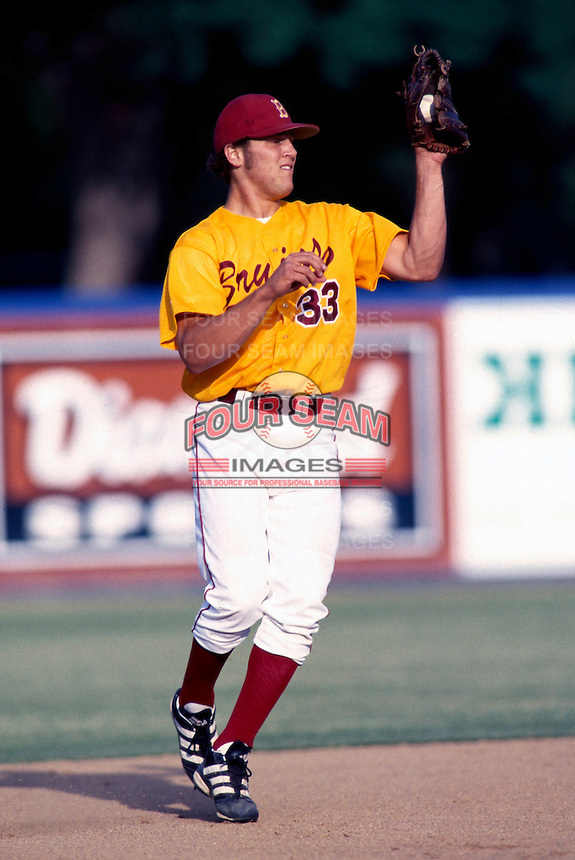 Sean Burroughs of Long Beach Wilson H.S. participates in a baseball game at Blair Field during the 1998 season in Long Beach, California. (Larry Goren/Four Seam Images)