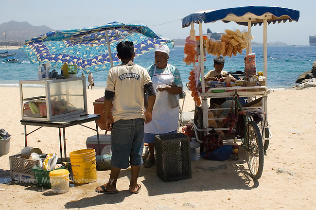 Beach Vendor on Playa El Medano, Cabo San Lucas, Baja California, Mexico