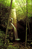 GENTRYS CREEK WATERFALLS, CHEROKEE NATIONAL FOREST , EAST TENNESSEE. LAUREL BLOOMERY TENNESSEE USA.