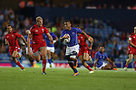 Glasgow 2014 Commonwealth Games<br /> Alatasi Tupou breaks through the Welsh defence.<br /> Wales v Samoa<br /> Ibrox Stadium<br /> <br /> 26.07.14<br /> &copy;Steve Pope-SPORTINGWALES